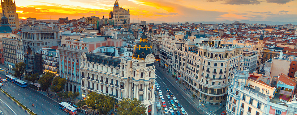 gran via avenue in madrid